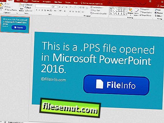 .PPSX filförlängning